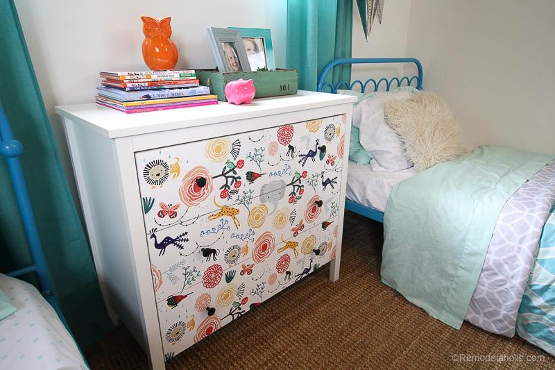 DIY Ikea Dresser Hack Updating With Wallpaper @remodelaholic 6