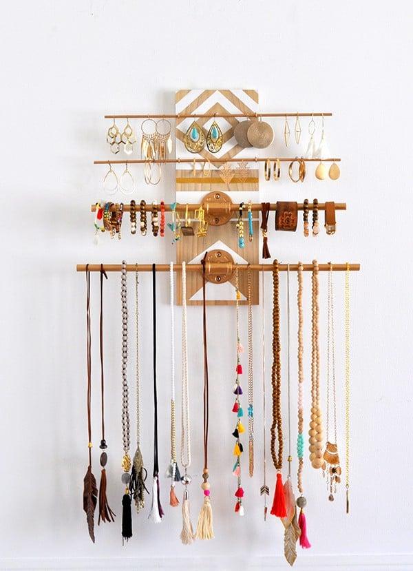 DIY Jewelry Organizer Ideas Made In A Day