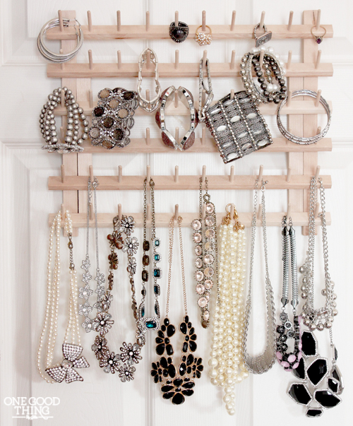 DIY Jewelry Organizer Ideas One Good Thing