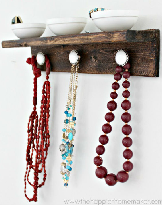 DIY Jewelry Organizer Ideas The Happier Homemaker