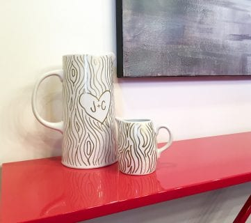 Faux Bois Sharpie Pitcher