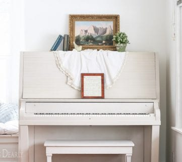 Friday Favorites: Painting a Piano and Upcycled Folding Table