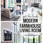 Modern Farmhouse Living Room Using Neutrals And Textures Featured On Remodelaholic.com