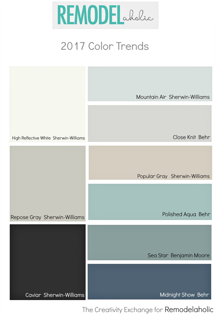 Popular Paint Colors 2017 remodelaholic | paint color trends for 2017