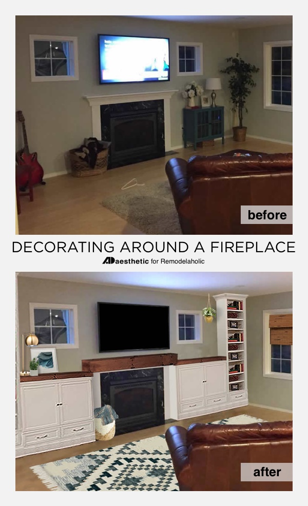 Decorating Around Fireplace remodelaholic | real life rooms: decorating around a fireplace