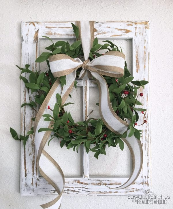 Rustic Window Frame By Sawdust2Stitches For Remodelaholic.com 2