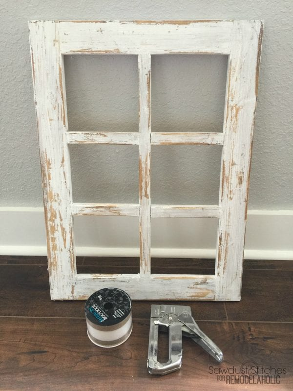 Rustic Window Frame By Sawdust2Stitches For Remodelaholic.com 6