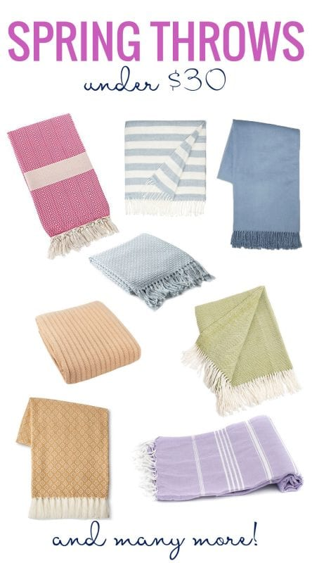 A Colorful Collection of Spring Throws Under $30