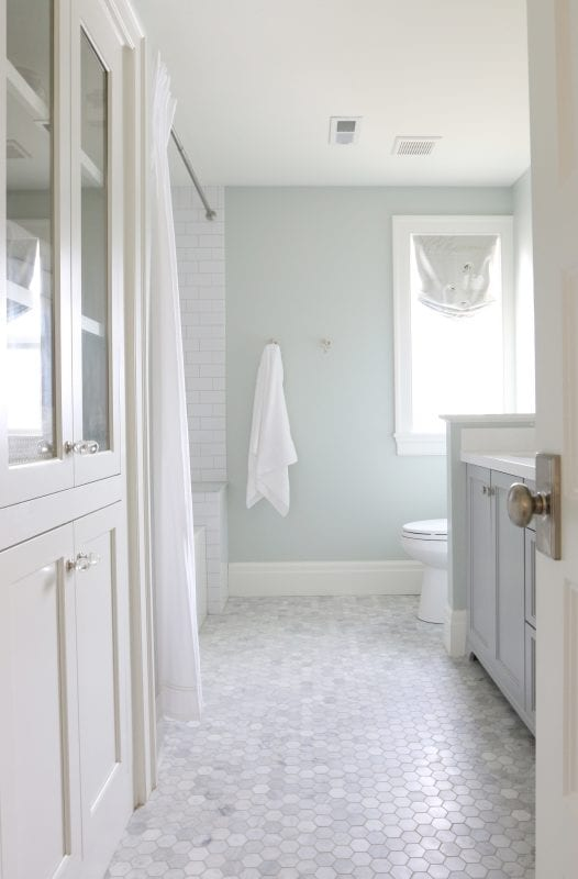 Wall Color Is Sherwin Williams Sea Salt. 2017 Color Trends