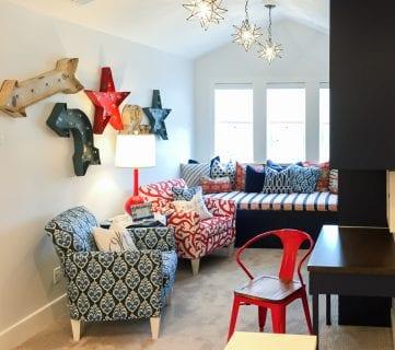 Get This Look: Colorful Playroom Loft & Homework Station