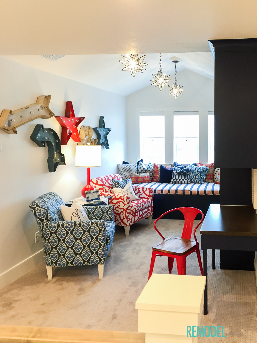 remodelaholic get this look colorful playroom loft u0026 homework