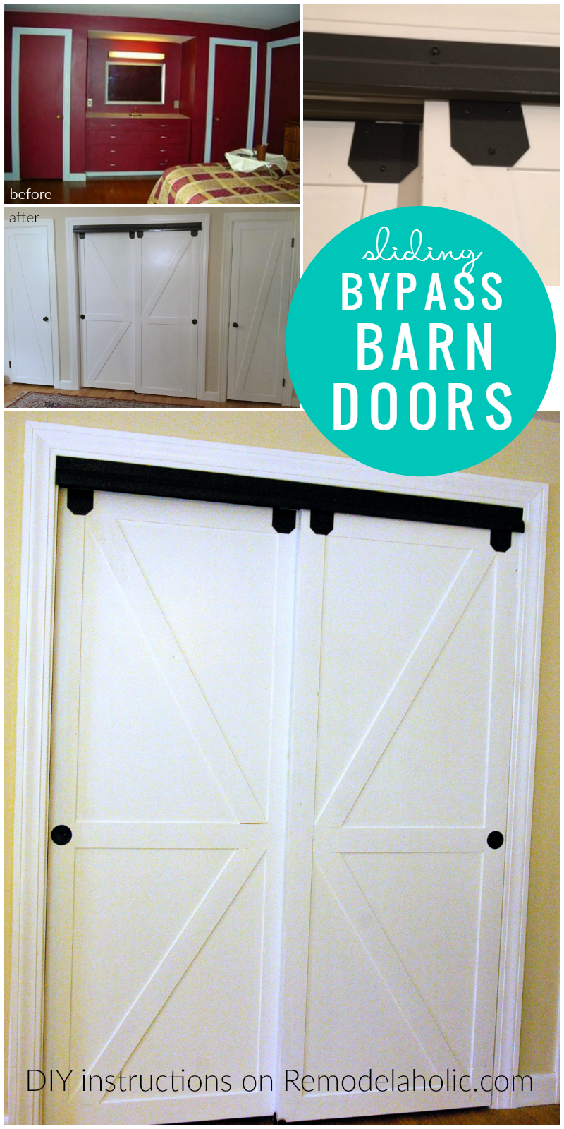 Diy Double Sliding Byp Barn Doors Remodelaholic