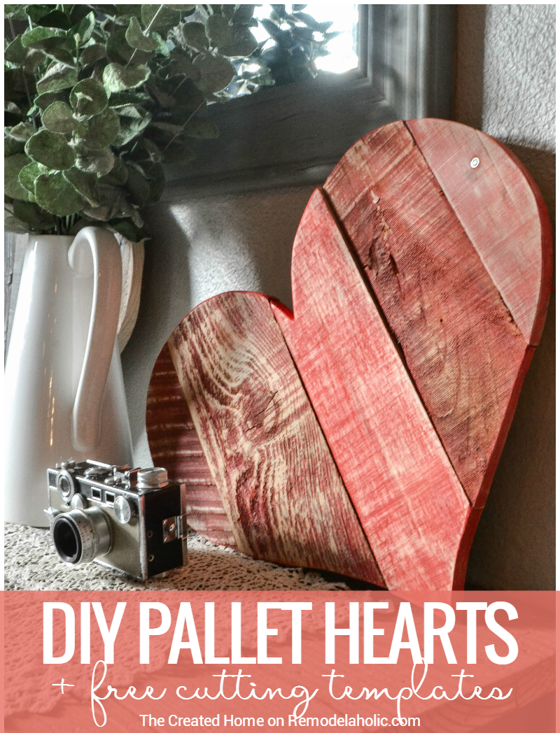 Remodelaholic Rustic Diy Pallet Wood Hearts Free Templates