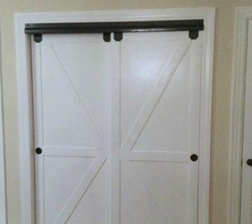 How to Make Bypass Closet Doors Into Sliding Faux Barn Doors