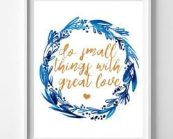 Feat Non Traditional Valentine's Day Art Print, Do Small Things With Love, Remodelaholic