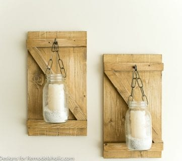 Feature Hanging Mason Jar Candle Lights Grillo Designs