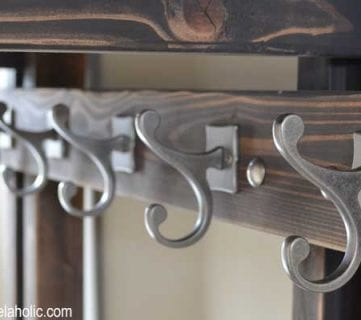 DIY Hall Tree Coat Rack (inspired by Pottery Barn)