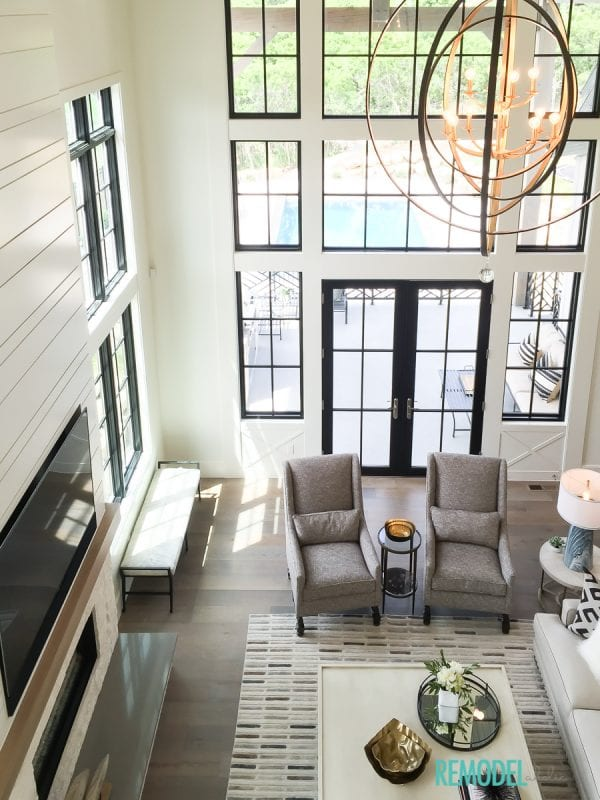Contemporary Living Room: Get This Look: Modern Farmhouse Living Room