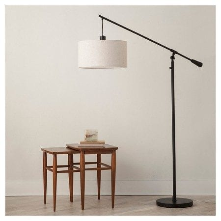 Neutral Living Room Pendant Floor Lamp