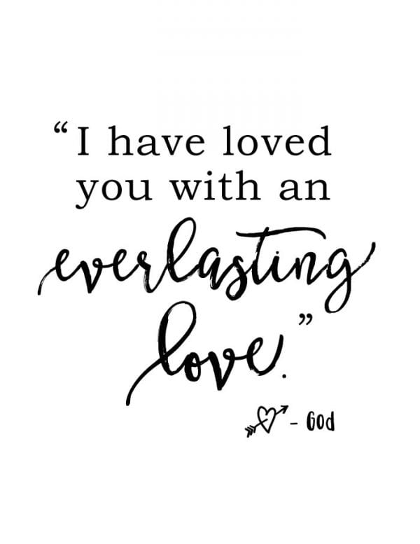Non Traditional Valentine's Day Art Print, Everlasting Love, The Harper House