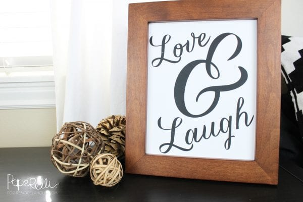 Printable Love Wall Art for a Gallery Wall: Love and Laugh Word Art