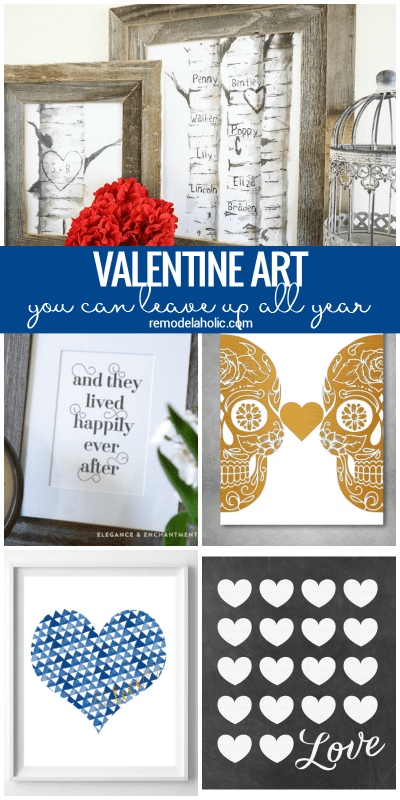 Non Traditional Valentine's Day Art Prints That You Can Leave Up All Year Long @Remodelaholic