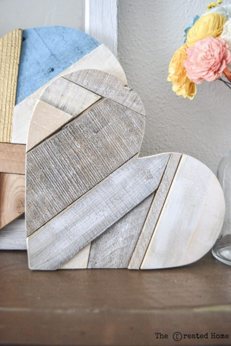 Quilted Wood Hearts, The Created Home
