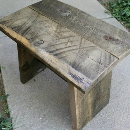 Scrap Project, Reclaimed Wood Stool