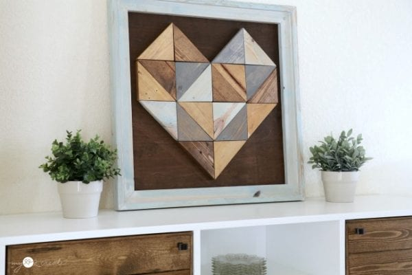 Side Shot Of Stained Triangle Heart, MyLove2Create