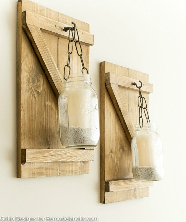 Remodelaholic | DIY Rustic Mason Jar Candle Holder