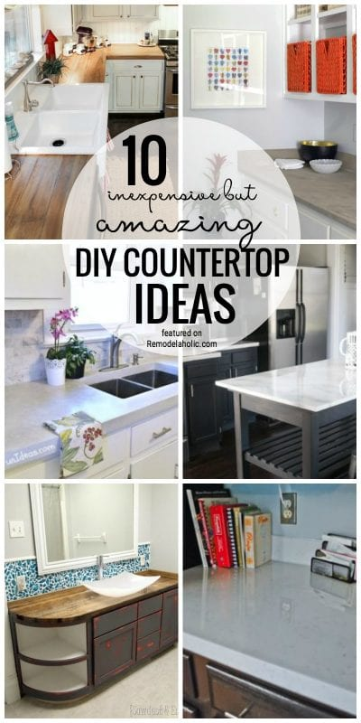 remodelaholic 10 inexpensive but amazing diy countertop ideas. Black Bedroom Furniture Sets. Home Design Ideas