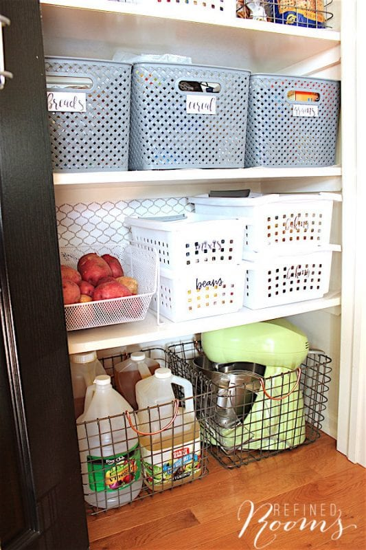 15 Pantry Organization Tips, By Refined Rooms Featured On @Remodelaholic