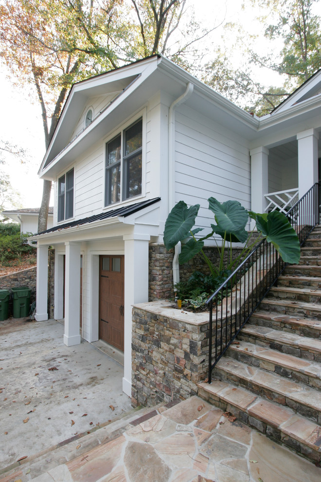 Remodelaholic real life rooms split level curb appeal for 1970 s split level remodel