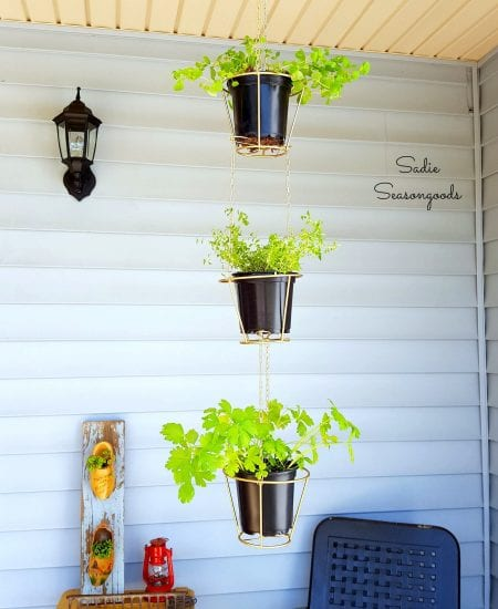 9 Thrift Store Lampshades Repurposed As Hanging Herb Baskets Sadie Seasongoods