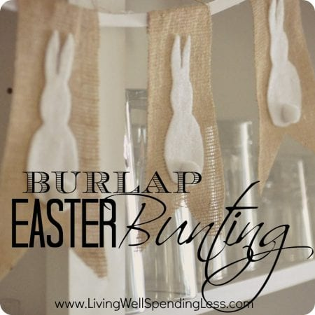 Burlap Easter Bunting Cute Simple No Sew Project Love The Bunnies Easter Bunting