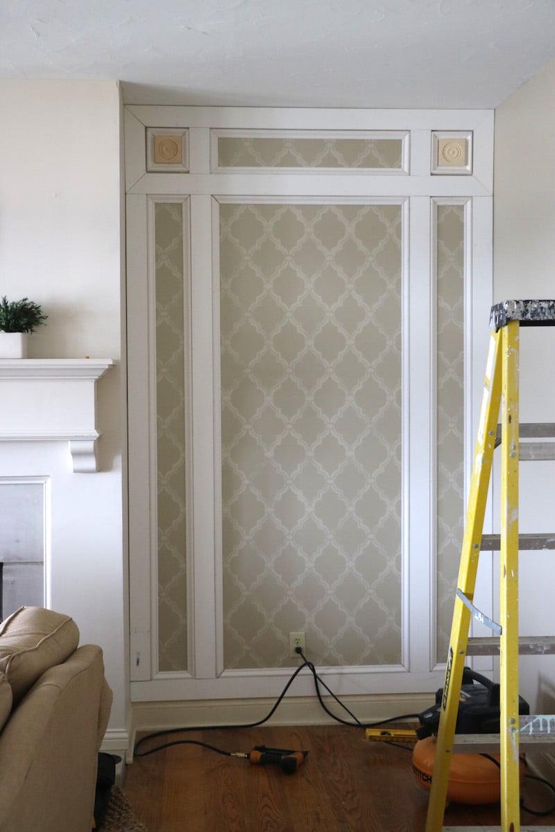 Remodelaholic Diy Elegant Paneled Wall Treatment