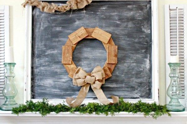 DIY Scrap Wood Wreath 600x399