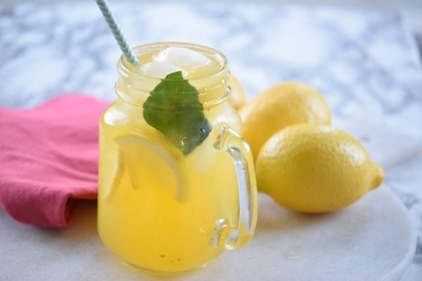 Stay Cool With A Yummy And Refreshing Drink. Try This Basil Passionfruit Lemonade Recipe Via Remodelaholic.com