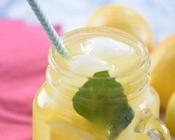 Basil Passionfruit Lemonade