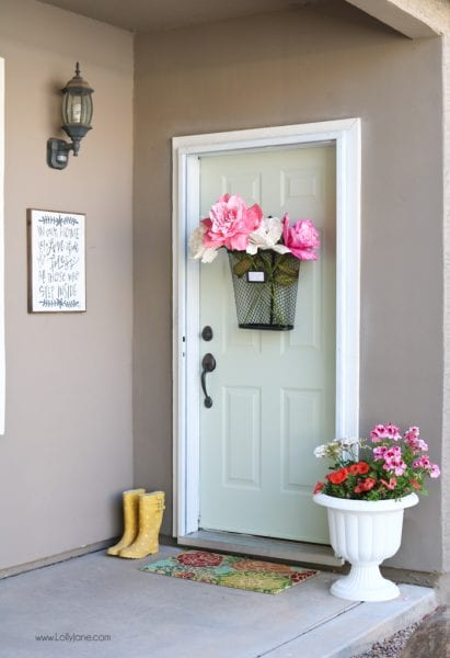 Easy Spring Refresh Door Makeover 9