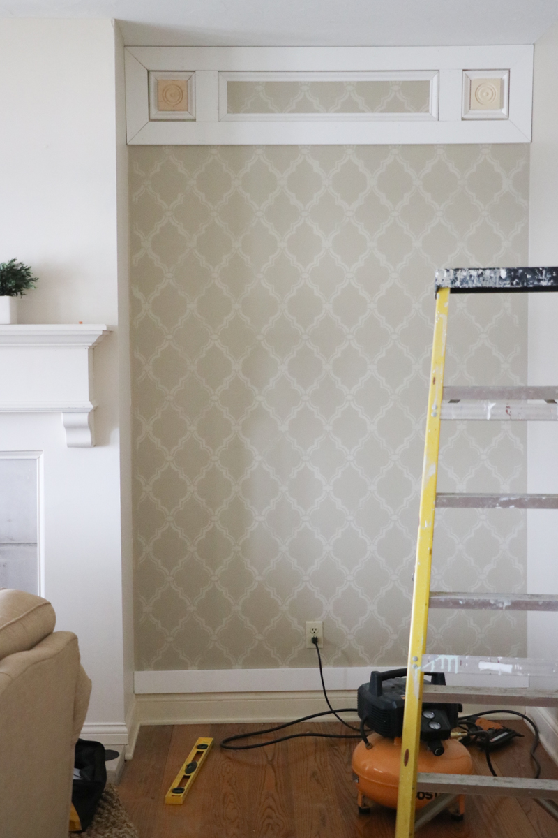 Elegant DIY Paneled Wall 3