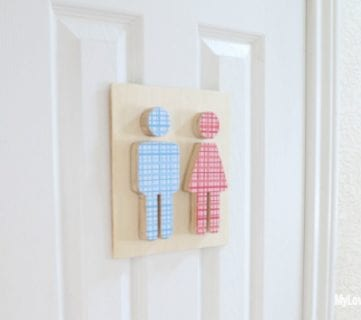 Easy Boy and Girl Restroom Cutout Signs