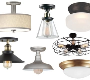 Stylish Flush Mount Light Fixtures Under $50