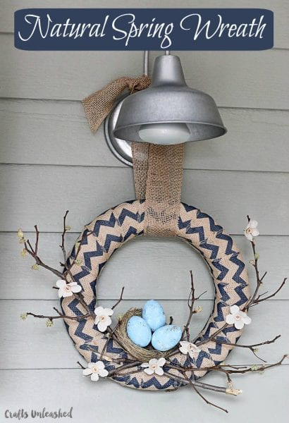 Neutral Spring Wreath With Birds Nest 17 OneKriegerChick 1