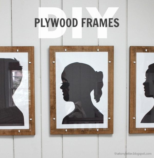 Plywood Decor Projects That's My Letter