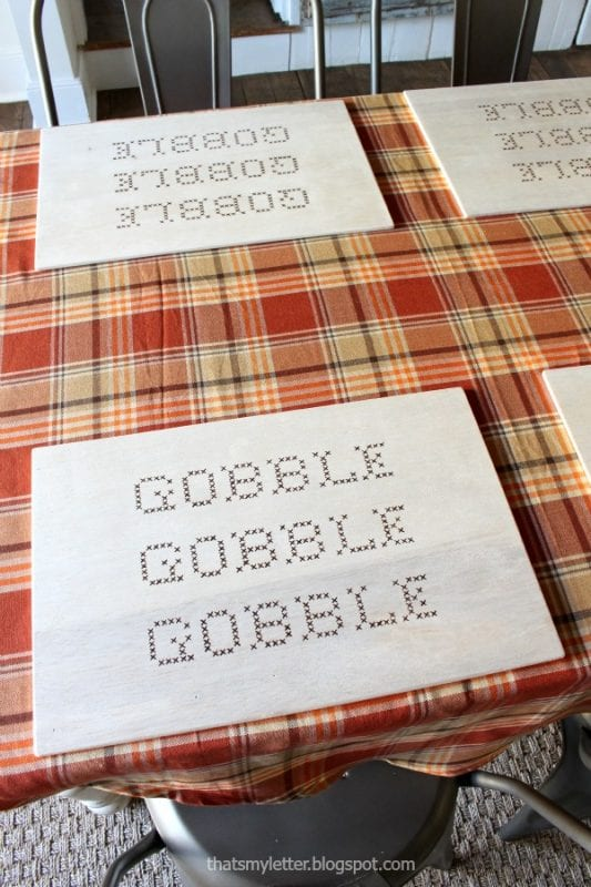Plywood Decor Projects That's My Letter Placemats