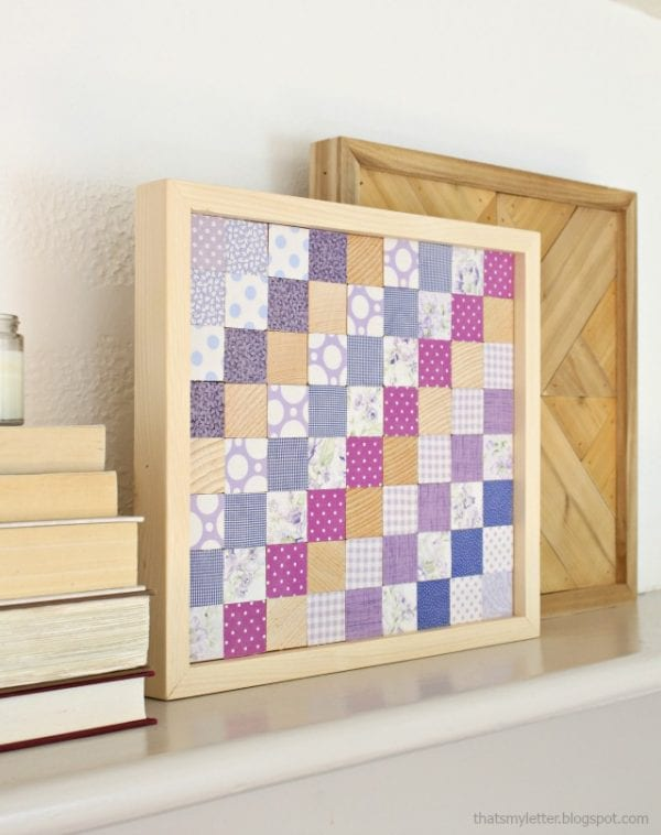 Plywood Decor Projects That's My Letter Quilt