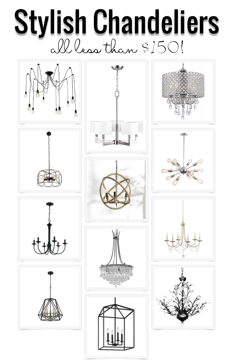 Stylish Chandeliers Under $150