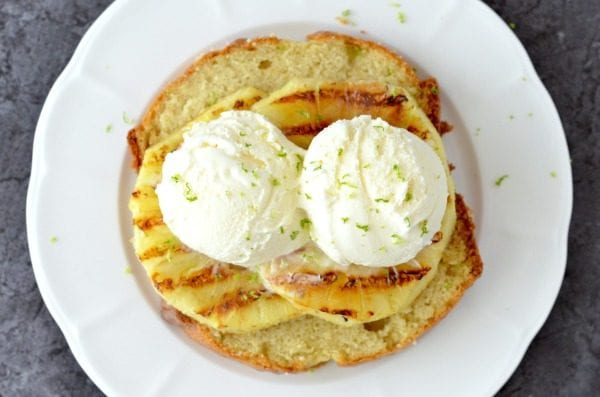 Another fun take on pineapple. Try Grilled Pineapple with Pound Cake and Vanilla Ice Cream by Know Your Produce.