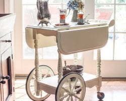Tea Cart Makeover 014